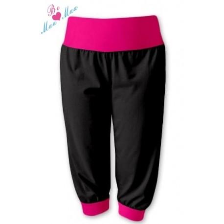 Sportovní 3 4 legíny CAPRI - černé růžové f15bf97f78
