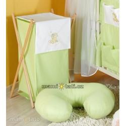 Luxusní praktický koš na prádlo - MRÁČEK zelený