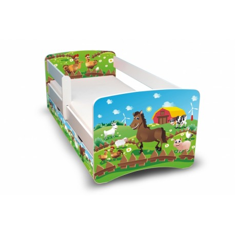 Dětská postel Farma II. s šuplíkem
