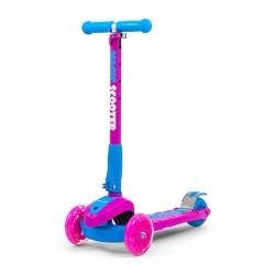 Dětská koloběžka Milly Mally Magic Scooter pink-blue, Růžová