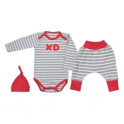 3-dílná bavlněná kojenecká souprava Koala XD červená, Červená, 74 (6-9m)