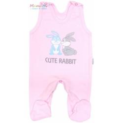 Souprava do porodnice v krabičce Mamatti - CUTE RABBIT - růžová