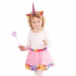 Dětská sukně Jednorožec s čelenkou