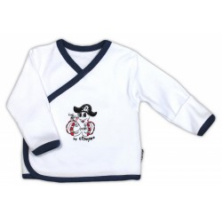 Košilka NICOL PIRÁTI - zapínání bokem - bílá