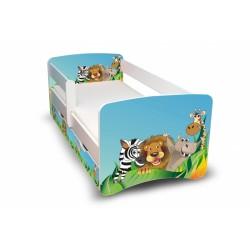Dětská postel ZOO II. s šuplíkem