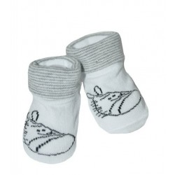 Kojenecké ponožky, 0 - 12 m, Risocks - Zebra, bílo/šedé
