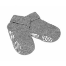 Kojenecké ponožky Risocks protiskluzové - šedé