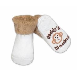 Kojenecké ponožky Risocks různé motivy - sv. hnědá