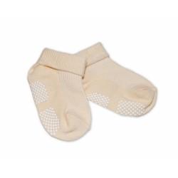 Kojenecké ponožky Risocks protiskluzové - béžové