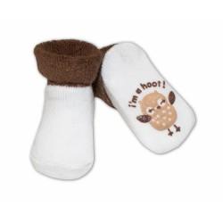 Kojenecké ponožky Risocks různé motivy - tm. hnědá
