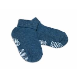 Kojenecké ponožky Risocks protiskluzové - grafitové