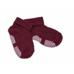 Kojenecké ponožky Risocks protiskluzové - bordo