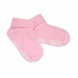 Kojenecké ponožky Risocks protiskluzové - sv. růžové