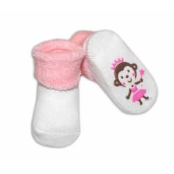 Kojenecké ponožky Risocks různé motivy - sv. růžová