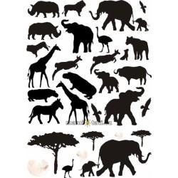 Nástěnná dekorace Afrika