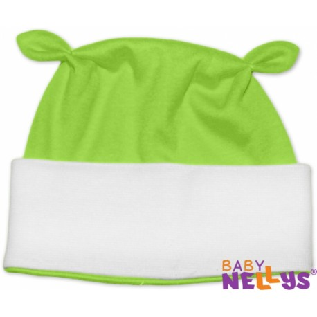 Čepička Baby Nellys OUŠKO - zelená