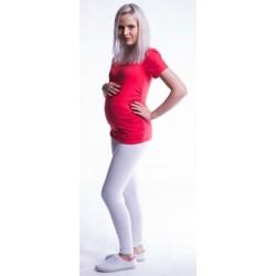Těhotenské legíny - bílé