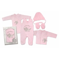 Mamatti Novorozenecká sada do porodnice, růžová - Medvídek