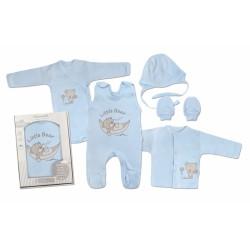 Mamatti Novorozenecká sada do porodnice, modrá - Medvídek
