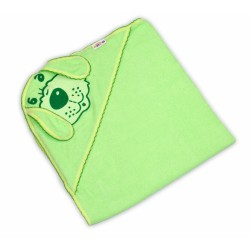 Dětská osuška Baby Nellys Pejsek - zelená