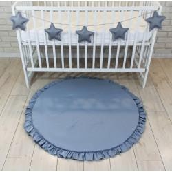 Baby Nellys Dětská hrací podložka, kobereček s volánkem - sv. šedá