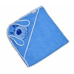 Dětská osuška Baby Nellys Pejsek - modrá