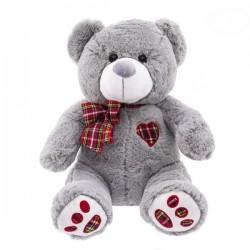 Plyšový medvídek 50cm - šedý