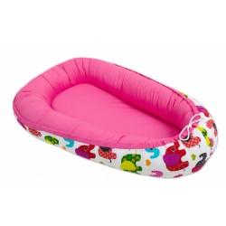 Oboustranné hnízdečko - kokon pro miminko -Růžové / sloni barevní