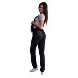 Těhotenské teplákové zahradníky - černé