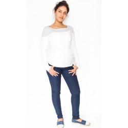 Těhotenské kalhoty/jeans Rosa - granátové