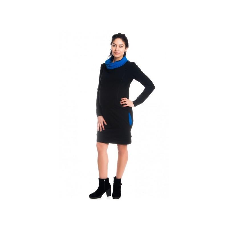 d5c4c965529 ... Teplákové těhotenské kojící šaty Eline