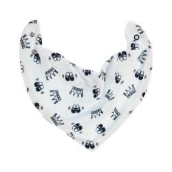 Dětský šátek na krk Pincezna, granátové korunky