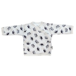 Novorozenecká košilka Princezna - zapínání bokem, granátová