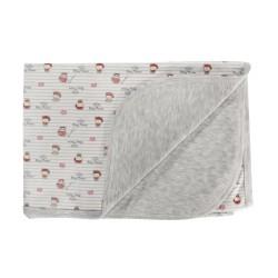 Dětská deka, dečka Pirát,  80x90 - bavlna, bílá