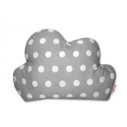 Mráček - dekorační polštářek - Bubble šedá