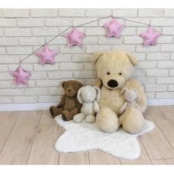 Ozdobná girlanda z eko kůže Baby Nellys Hvězdičky - růžové