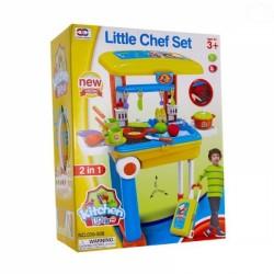 Dětská kuchyňka v pojízdném kufříku