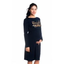 Těhotenská, kojící noční košile Blessed Mama - granátová