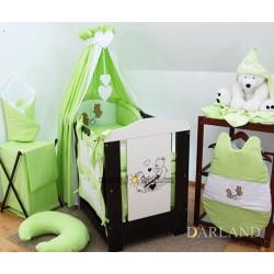 Luxusní 5D set  výšivka CL - Méďové v zelené