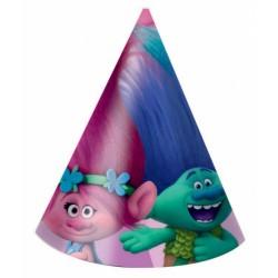 PROCOS klobouk papírový Trollové - Trolls 6 ks