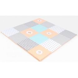 Hrací, přebalovací podložka 160x160cm - pastelová s výšivkami