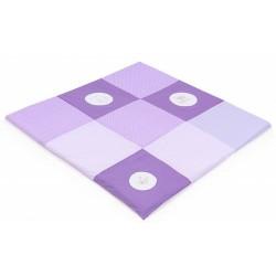 Hrací, přebalovací podložka 120x120cm - fialová s výšivkami