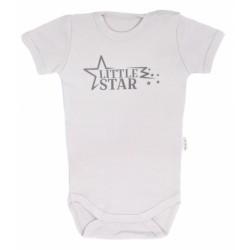 Mamatti Kojenecké body krátký rukáv Star - šedé