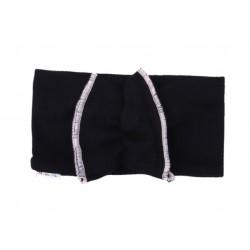 Mamatti Dětská čelenka ala turban Bow - černá