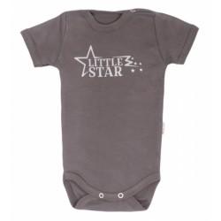 Mamatti Kojenecké body krátký rukáv Star - béžové