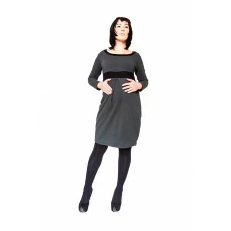 Těhotenské šaty/tunika ORA - grafit