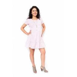 Těhotenské šaty Adela - světle růžová