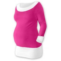 Těhotenska tunika DUO - růžová/bílá
