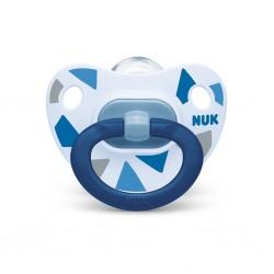 Šidítko NUK Happy Days 6-18 m modrý BOX, Modrá, 6-18 m