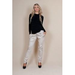 Těhotenské kalhoty s mašlí  - Béžové